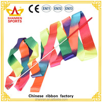 wholesale high quality Gymnastics ribbons chinese silk dance ribbon