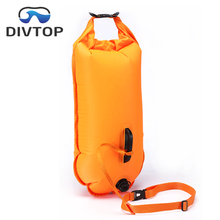 Open water swim buoy bag for Safer Swims