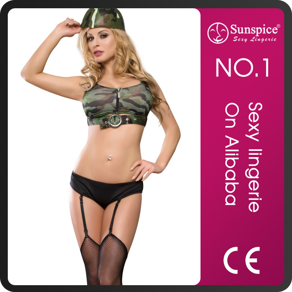 Sunspice sexy fashion mature women in sexy lingerie Army & Navy costume