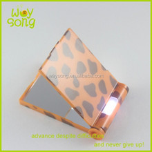 colorful led handheld compact mirror,lighted hand held cosmetic mirror,glass led folding mirror