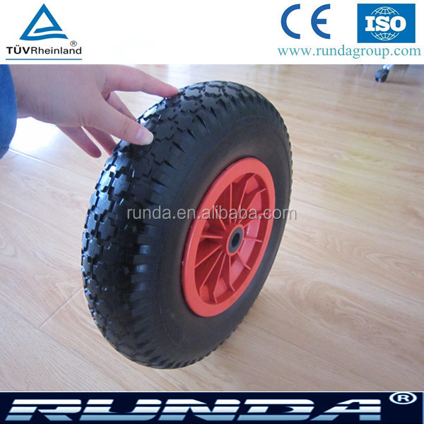industrial tubless anti rust and solt pu wheel