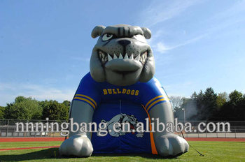 NB4-TN322 Giant Inflatable Bulldog Entry Tunnel for Sports Event