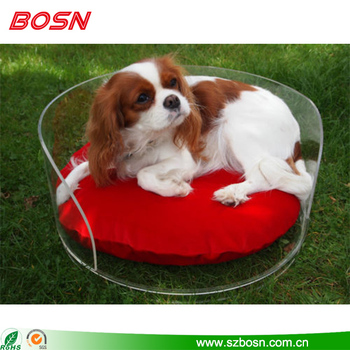 New design transparent acrylic pet dog bed for sale