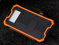 Solar Energy 12000mAh Mobile Power Bank Water Resistance Dustproof