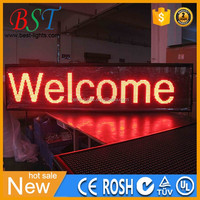 P10 160cm x 32cm scrolling LED sign programmable software high quality led sign outdoor