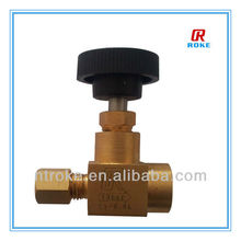 Brass Pressure Gauge Valve With Round Knob