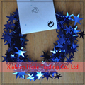 Royal Blue Star Garland Tinsel Wire Garland 7m Christmas Tree Xmas Decor
