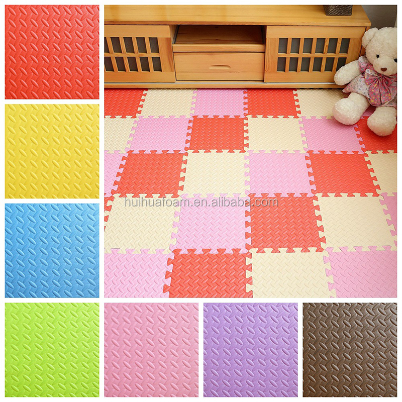 Foam Puzzle Baby Play Mat Kids Multi-Color Safe Playground Soft Interlocking Mat