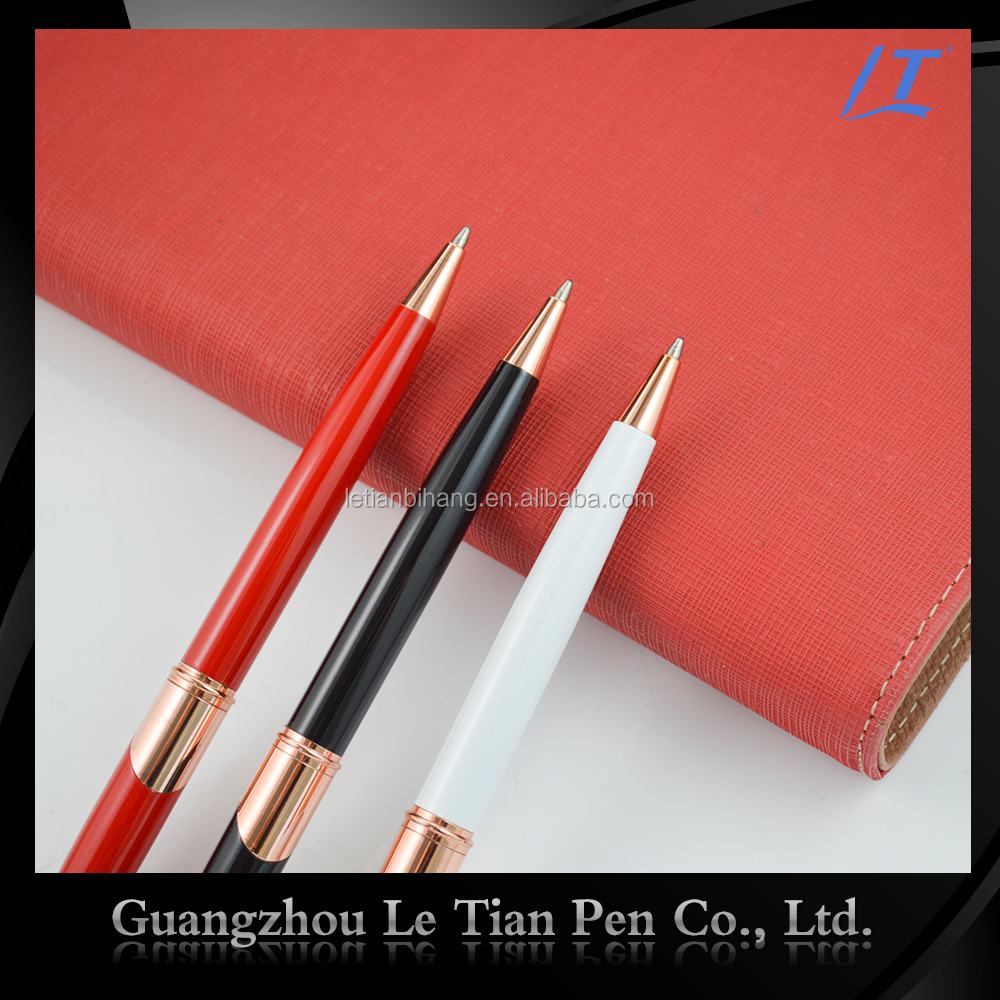 2016 Customized Heavy metal detectable ball pens for office
