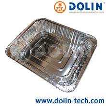 In the production of aseptic for food packaging aluminium foil containers