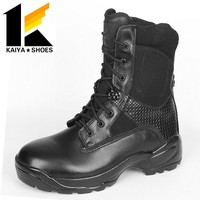 Black leather combat cheap price army military tactical boots