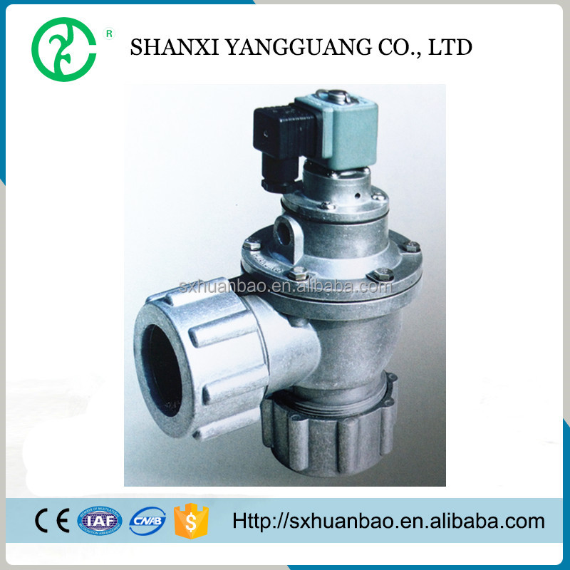 Right angle diaphragm pulse air valve with screw nut