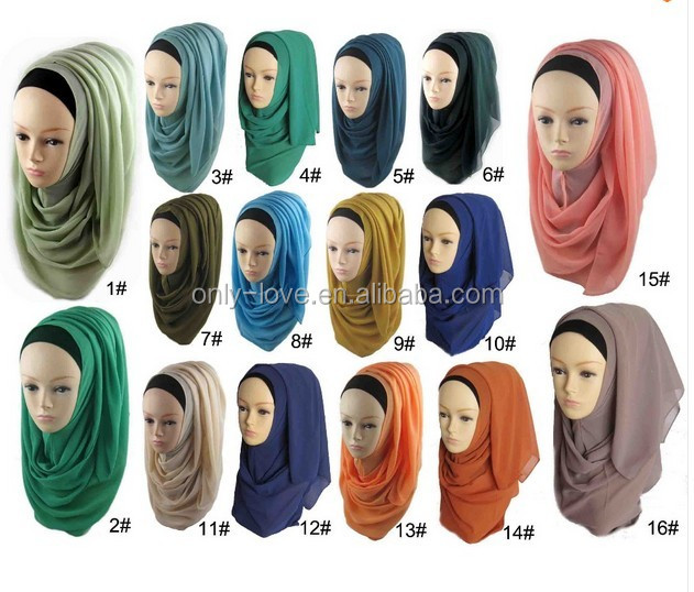 high quality Big Large Solid Color women shawl hijab new designs plain pearls chiffon scarf hijab,can choose colors QK010