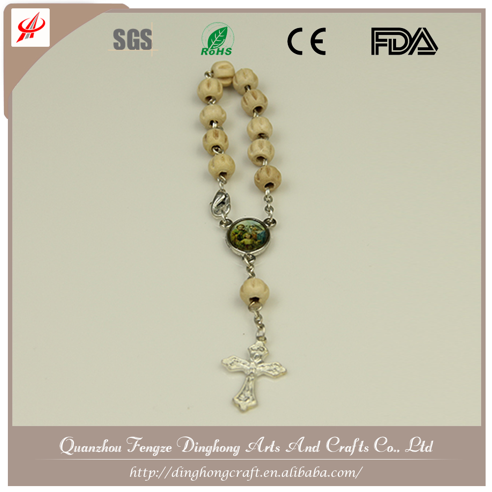 Different Beads Material and Saint Catholic Rosary Plastic Rosary Necklace