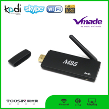 Best selling quad core android 4.4 bluetooth 4.0 m85 android mini tv box google play store app free download