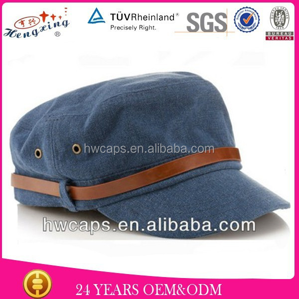 Jean fanshion leather patch military hat patterns