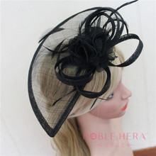 Party Hair Accessories Plain Sinamay Hats For Girls Daily Life