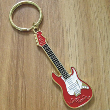 Promotional gifts custom souvenir metal guitar keychain