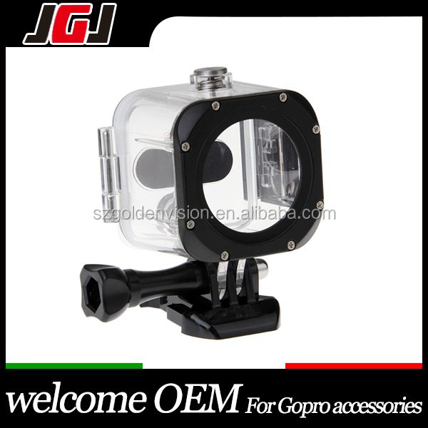 JGJ China Factory Customized 45m Underwater Waterproof Housing Case for Gopro Hero 4 Session Action Camera