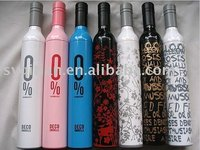Hot selling made in china gift cute customize wine bottle umbrella