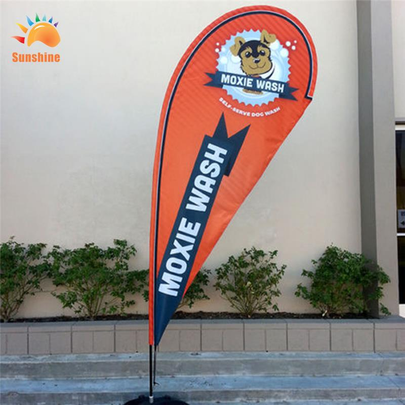 custom best seller beach flag with giant flag pole