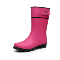 Factory supplier ladies rubber rain boots women