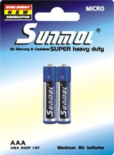 High Quality with competitive price C/AA/AAA/9V Zinc Carbon Battery 2pcs/pack
