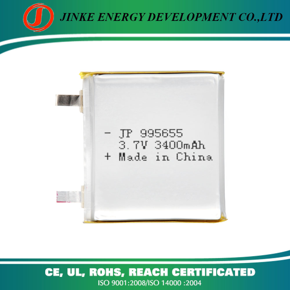 China factory rechargeable battery pack for portable dvd player 3.7v 3400mah battery power plus battery