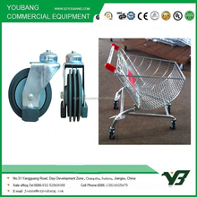 4 inch hand shopping trolley caster wheel for supermarket