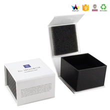 White cardboard paper gift box printing ,hinged jewelry paper gift box in China