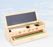 2016 kids school writing pencil wooden packing box