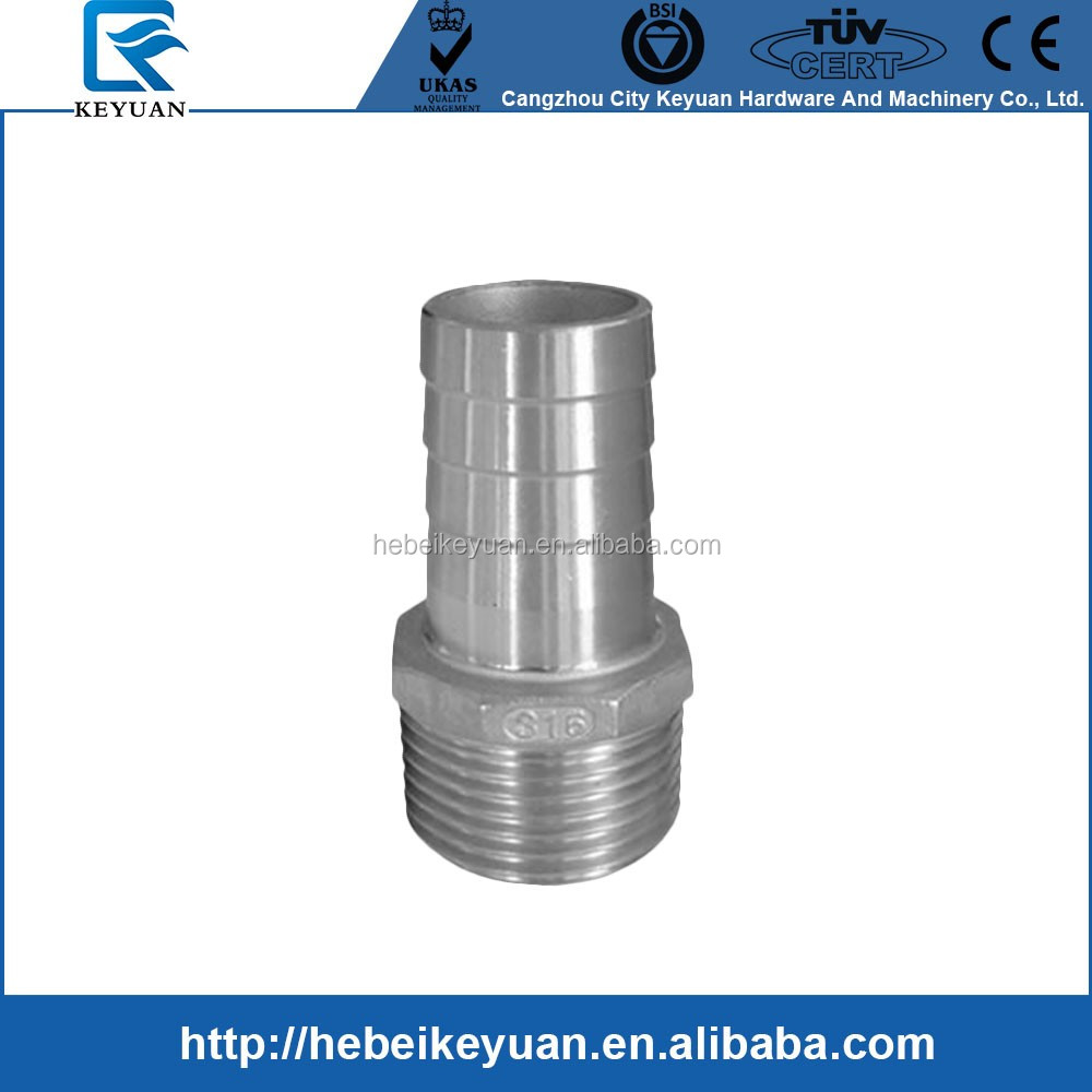 stainless steel hexagonal hose nipple,hose nipple fittings