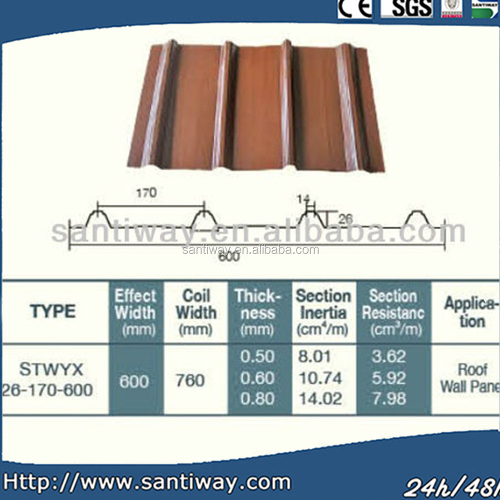 OEM cheap decorative metallic structures magnesium oxide roof tiles supplier