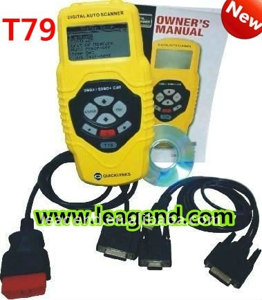 CAN OBD2/EOBD ecu car programming tools/auto portable scan gauge T79 -6 languages ,Data print out,live data graph