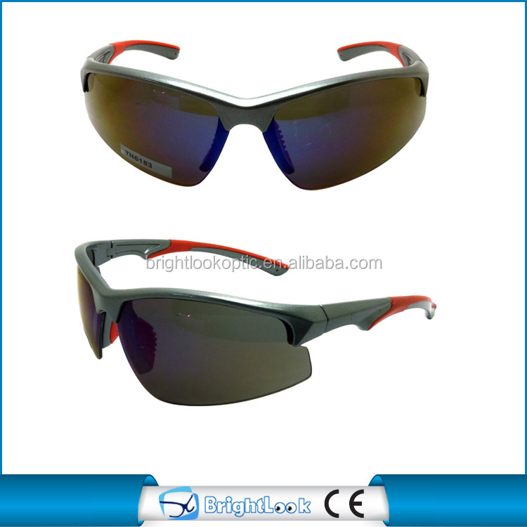 Half frame plastic meterial outdoor sports sunglasses bicycle made in china uv400 CE