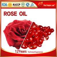 Natural herbal supplements skin whitening rose extract oil capsules with vitamin E