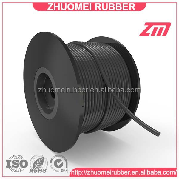 round shape black rubber string