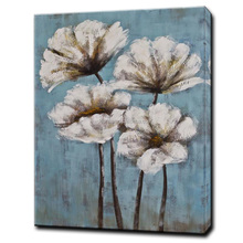 Hot Sale Handmade Lily Flower Canvas Oil Painting Custom Wall Decor Art Picture