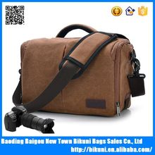 High quantity outdoor canvas camera messenger shoulder bag for men
