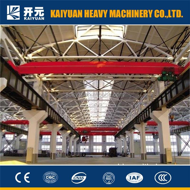 10 ton small hoist single girder bridge/3 t electric crane