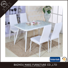 oval glass top round tempered glass dining table