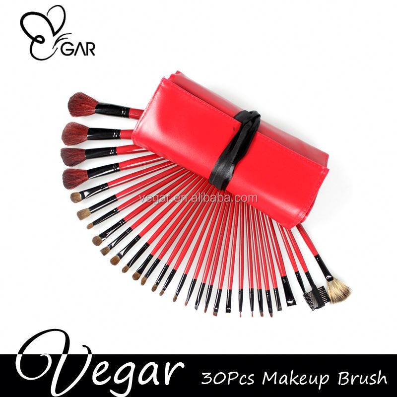 custom made makeup brushes red case portable fashional make up brush set