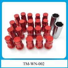 MAZDA 3 6 MIATA MX5 RX8 RX7 JDM RED FORGED ALUMINUM WHEEL LUG NUT+KEY+LOCK X 20 TM-WN-002