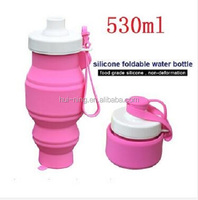 2016 novelty gifts Best Eco friendly small silicon squeeze bottles foldable water bottle