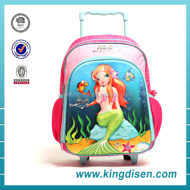Best Selling Kids School Bag With Wheel School Backpack