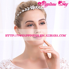 Korean Fashion Bridal Headdress Clear Crystal Rhinestone Flower Shiny Wedding Headbands Women Silver Hairbands Party Jewlery