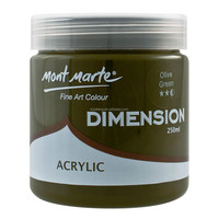 Mont Marte Dimension Acrylic Paint 250mls - Olive Green