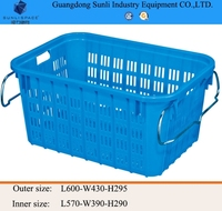 64L Outdoor PE Storage Plastic Fruit Basket with handle
