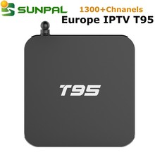 Android tv box T95 with HD Sports Channels German Turkish Italian IPTV APK Account europe iptv