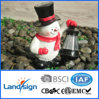 XLTD-1544 2016 hot style solar outdoor lovely pathway decor lamp solar Christmas star snowman light with lantern